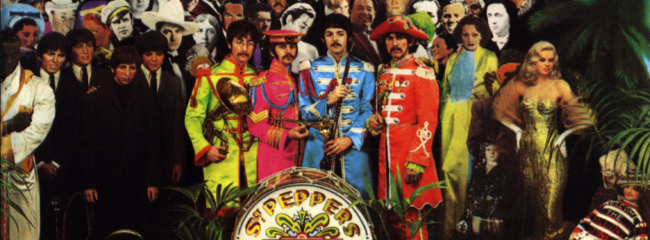 Albumcover. Sergeant Pepper's Lonely Hearts Club Band, 1967.